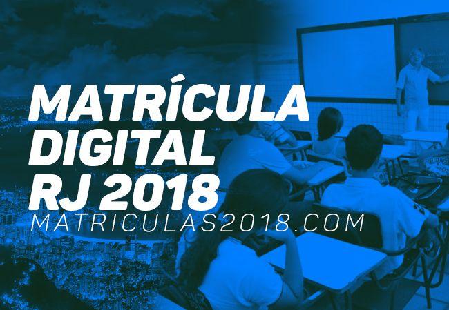 Matrícula Digital RJ 2018