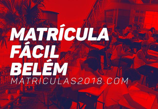 Matrícula Fácil Belém PA 2018