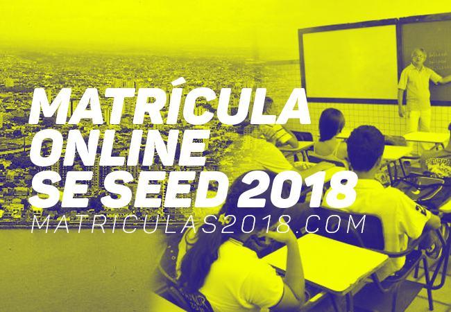 Matrícula Online SE SEED 2018