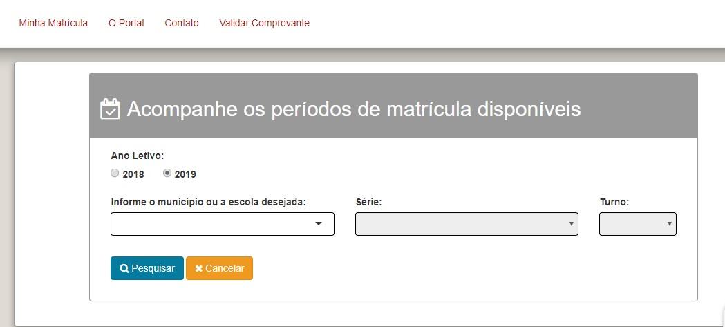 Pré Matrícula Online SE SEED 2020