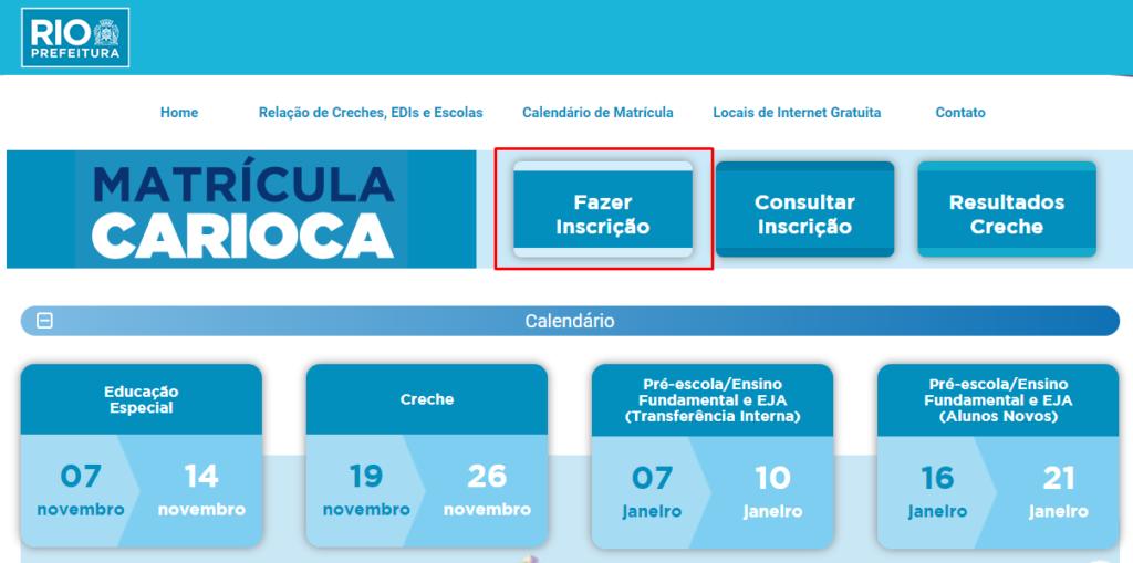 Portal da Secretaria de Educação do Rio de Janeiro